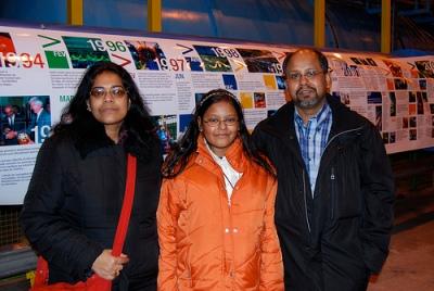 Maitreyee, Sohini and Kanti at CERN.