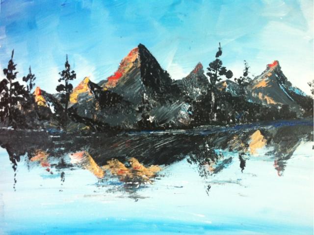 Oil painting by Maitreyee Kumar.
