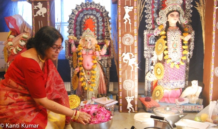 Durga Puja celebrations in Copenhagen organized by the Bengalis In Denmark (BID) in October 2016.